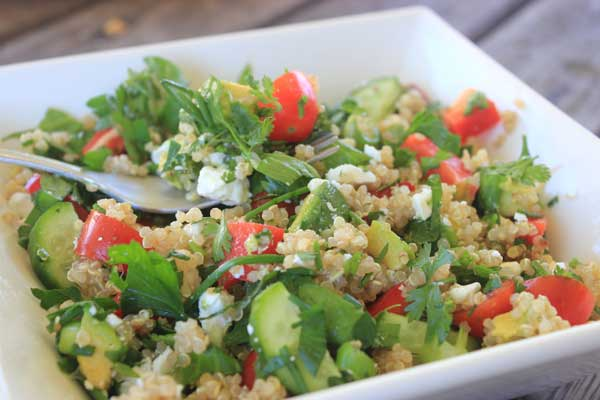 Herby lemon quinoa salad recipe | Veggie Mama