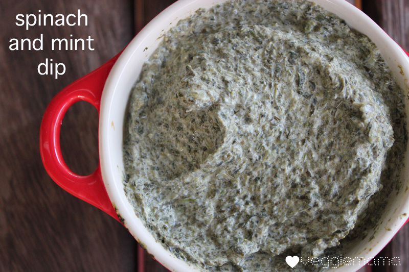 Spinach and mint dip | Veggie mama