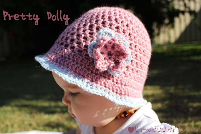 free crochet baby hat pattern | Veggie Mama