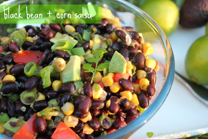 black bean and corn salsa | Veggie Mama