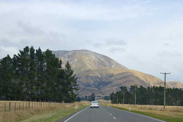 Driving around the South Island of New Zealand