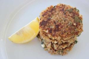 Feta and oregano quinoa fritters