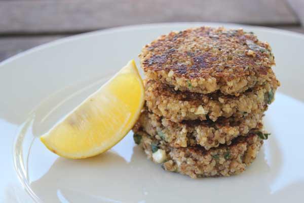 Quinoa patties with feta and oregano | Veggie Mama