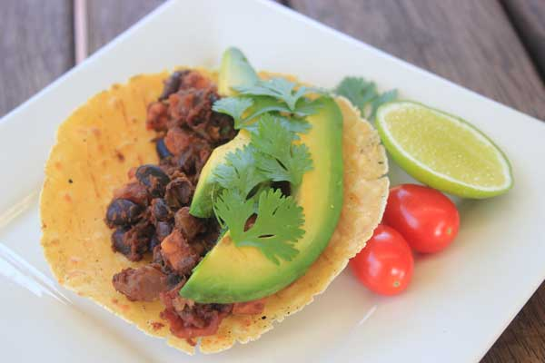 black bean and sweet potato tacos | Veggie Mama