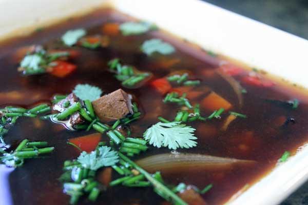 Hoisin tofu soup recipe | Veggie Mama