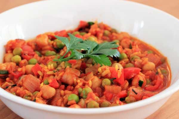 Vegetarian Paella   Vegetarian dinner ideas   Veggie Mama