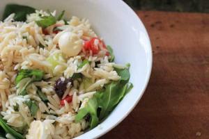 Greek-Style risoni salad