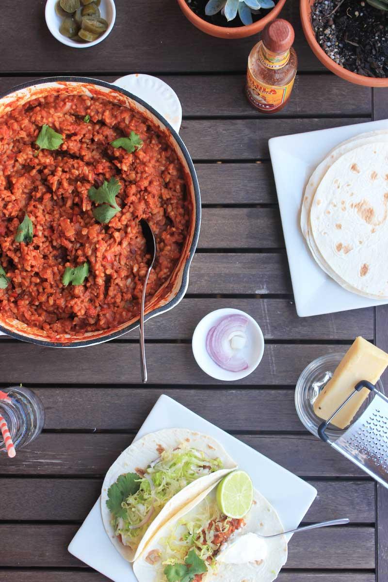 Vegan Chipotle Lentil Tacos | Veggie mama