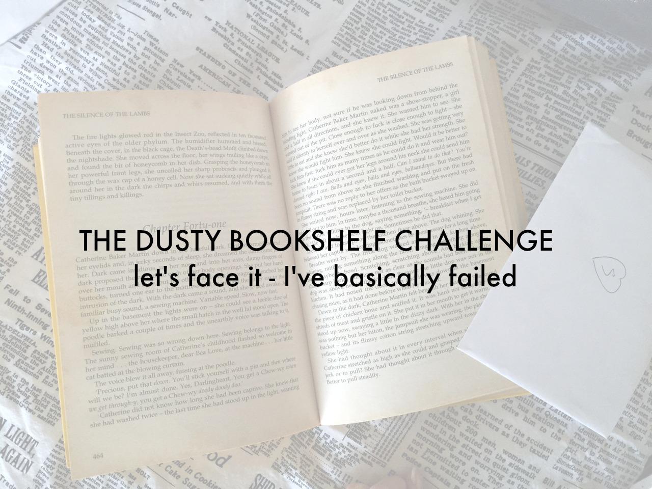 The dusty bookshelf challenge | Veggie mama