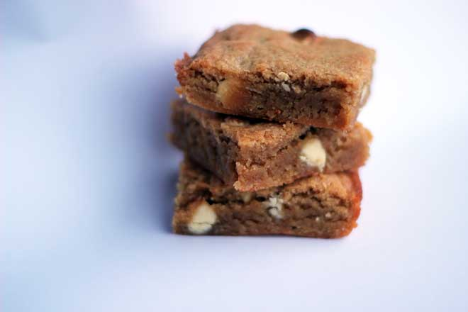 White chocolate bean blondies recipe: Beans In a white chocolate blondie Of course! Extra nutrition that you can't even taste.