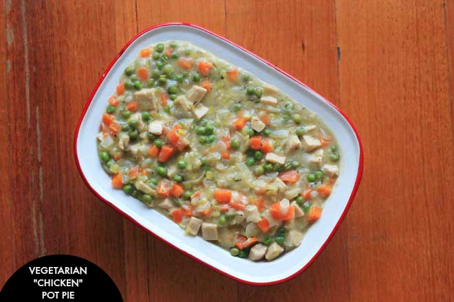 """A vegetarian favourite of an old classic - """"chicken"""" pot pie. Rich and creamy, as you'd expect! on theveggiemama.com"""
