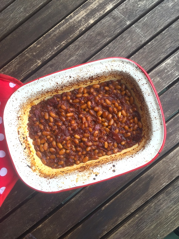 Homemade smoky baked barbecue beans! So good, so easy.