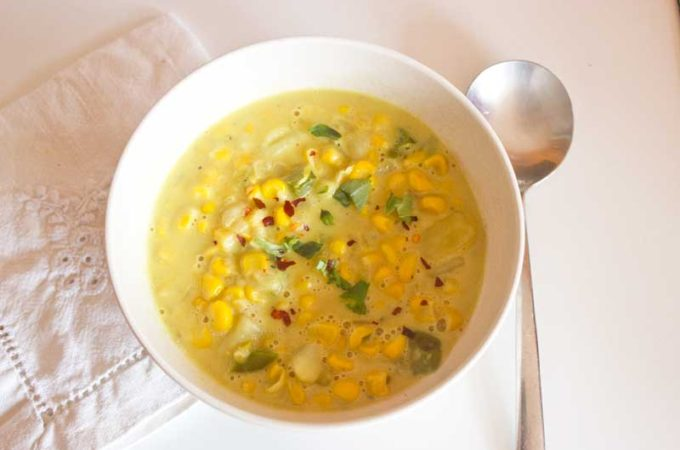 Vegetarian corn chowder | Veggie Mama