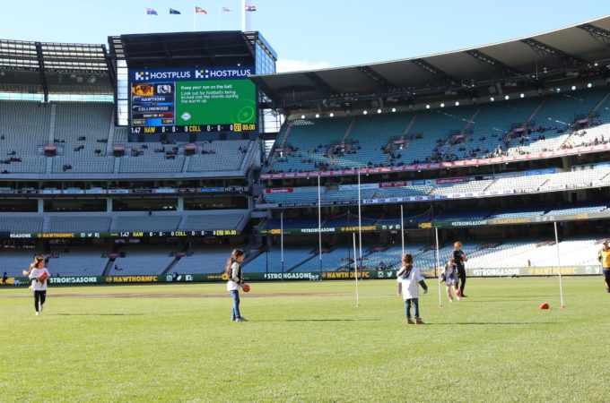 MCG family fun day with Bupa and Hawthorn